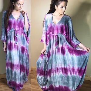 Gorgeous Oversized Flowy Tie Dye Maxi Dress